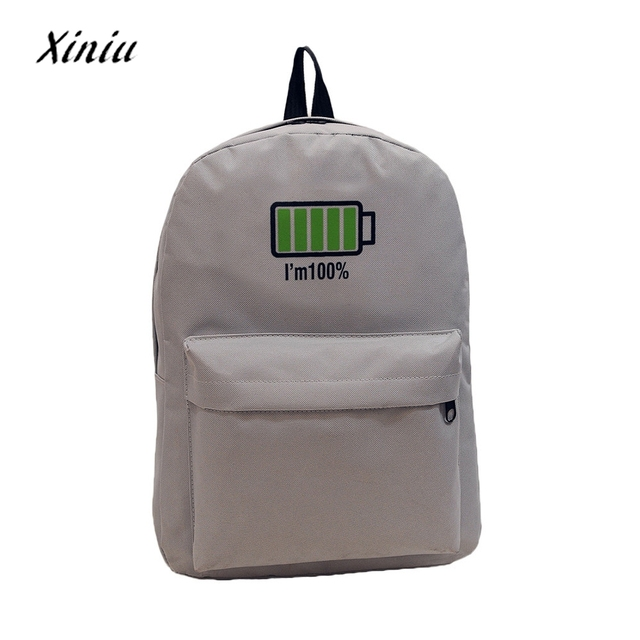 men women canvas backpack travel bag school bag personalized battery