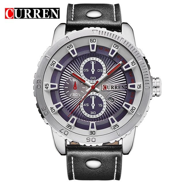 CURREN люксовый бренд кварцевые часы Повседневное модные кожаные часы Reloj masculino мужские часы Бесплатная доставка Спортивные часы 8206