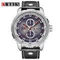 Curren luxury brand quartz watch Casual Fashion Leather watches reloj masculino men watch free shipping Sports Watches 8206