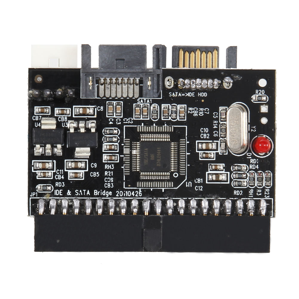 2 In 1 IDE to SATA/SATA to IDE Adapter Converter Support Serial ATA 40pin IDE port Serial ATA port 4 pin power connector QJY99 2pcs lot wholesale serial 20cm 18awg 4 pin ide molex to 2 15 pin sata ata hdd power adapter cable free shpiinng