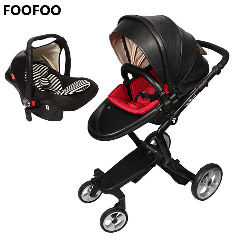 foofoo Luxury high landscape shock strollers can sit reclining stroller baby stroller two-way dual summer with car seetfoofoo Luxury high landscape shock strollers can sit reclining stroller baby stroller two-way dual summer with car seet
