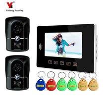 Yobang Security 7″ Door bell with CMOS Waterproof camera RFID video doorphone Monitor touch screen Intelligent Video Intercom