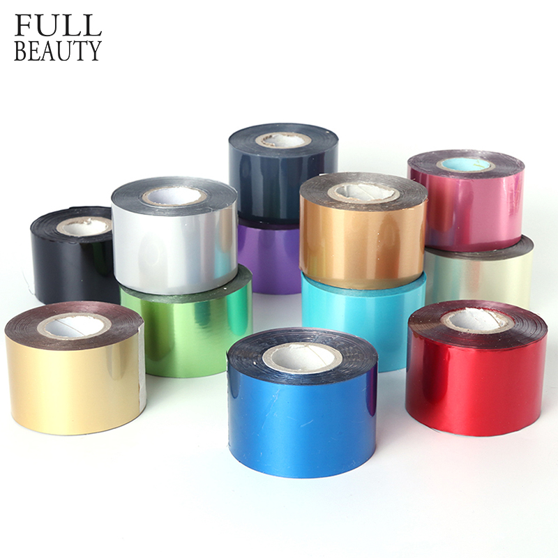 Full Beauty 1 Roll Nail Art Transfer Foil Holographic Nail Stickers Decal Starry DIY Wrap Manicure Paper Tips Decoration CHA40 zko 1 sheet water transfer nail art sticker decal foil adhesive nails tips nail decoration makeup tools 8028
