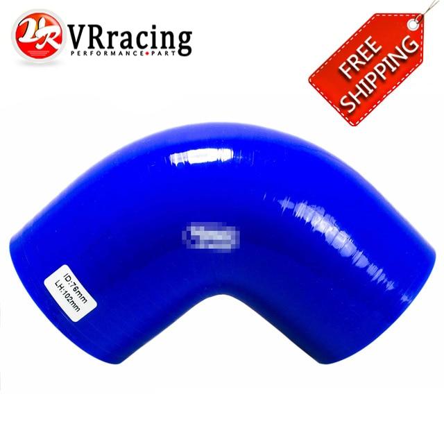 """Prix pour VR RACING-LIVRAISON GRATUITE 3 """"76mm 90 Degrés Coude Silicone Tuyau d'arrosage Turbo Admission BLEU VR-SH9030"""