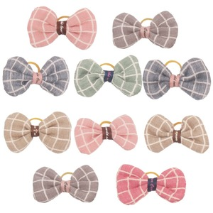 10/20pcs Plaid Pattern Dog Bow