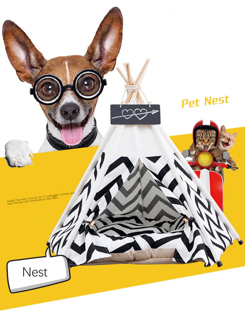 Portable Washable Pet Teepee Tent Nest dog and cat