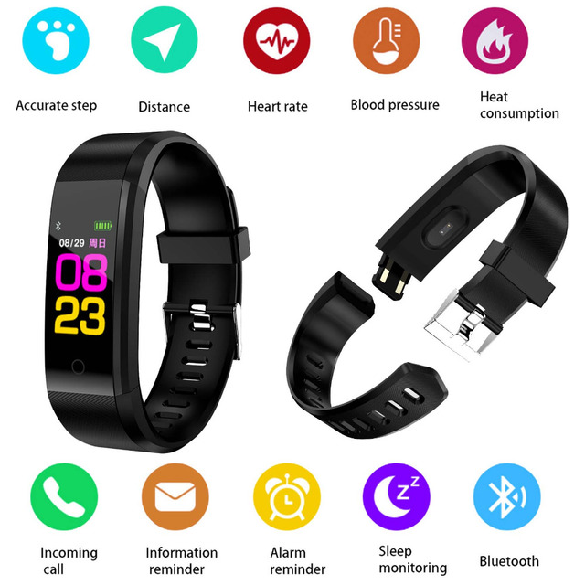 US $14 89  A07 Bluetooth Sport Smart Wristband Fashion Smart Band Heart  Rate Fitness Tracker Smart Bracelet for Samsung Galaxy S9 S8 Plus-in Smart