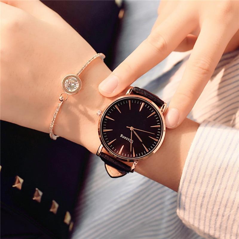 Utsökt enkel stil kvinnor tittar lyx mode kvarts armbandsur droppe - Damklockor - Foto 4