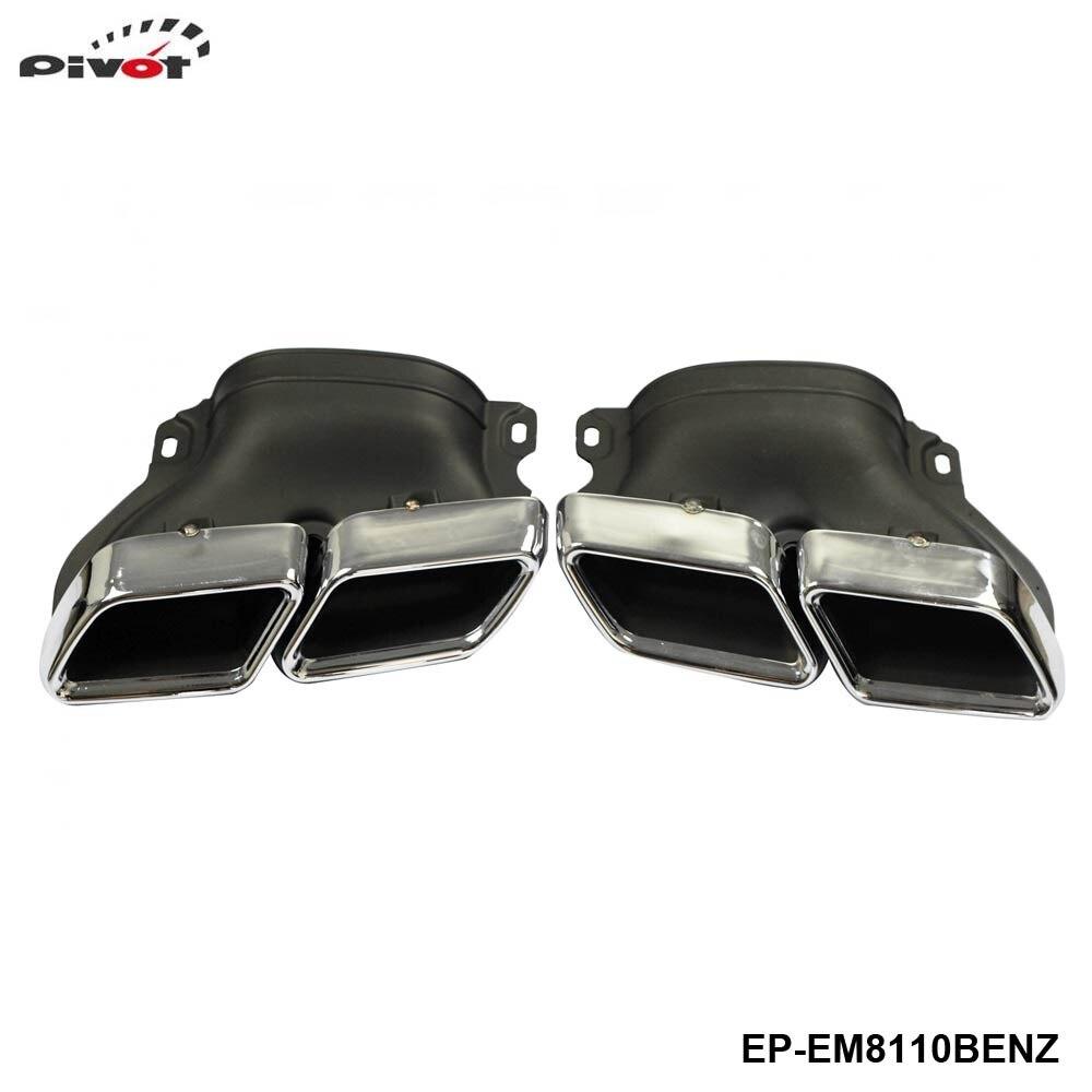 Embouts de silencieux d'échappement 304SS pour mercedes-benz W205 classe C C250 C300 C350 C63 EP-EM8110BENZ