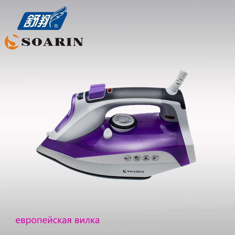 SOARIN Electric Steam Iron for Clothes Handheld Steam Iron Thermostat Prevent Calcium Deposition Steamer Ceramic Base Plate soarin 110 240v ceramic heating plate