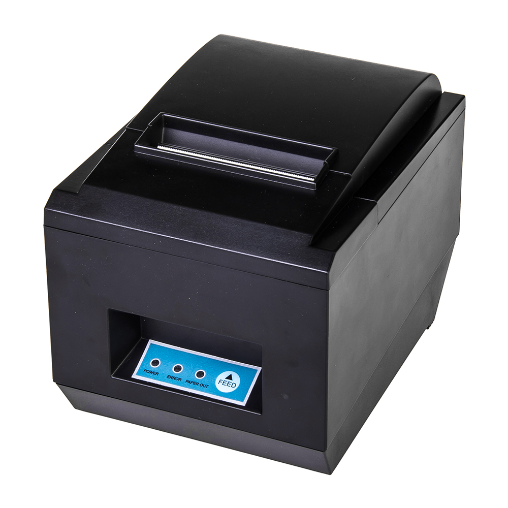 RD-8250  Black And White Style and USB Interface Type 80mm thermal pos receipt printer with auot-cutter zj 5890k mini 58mm black and white printer pos receipt thermal printer built in power light with usb port power interface