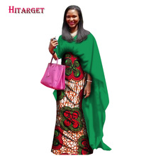 2017 Novel African Dresses for Women Bazin Riche Patchwork Cloak Straight Dresses Dashiki African Traditional Clothing WY1235