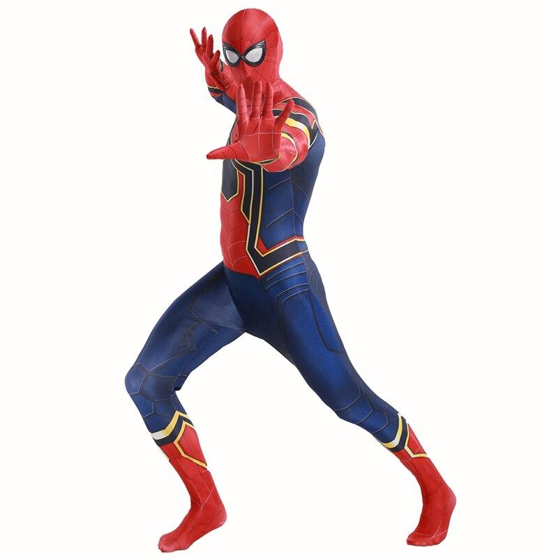 Avengers 3 Infinite War Adult Children Iron Spider-Man Cosplay 3D Digital Back to School Season Return Steel Spider-Man Tights