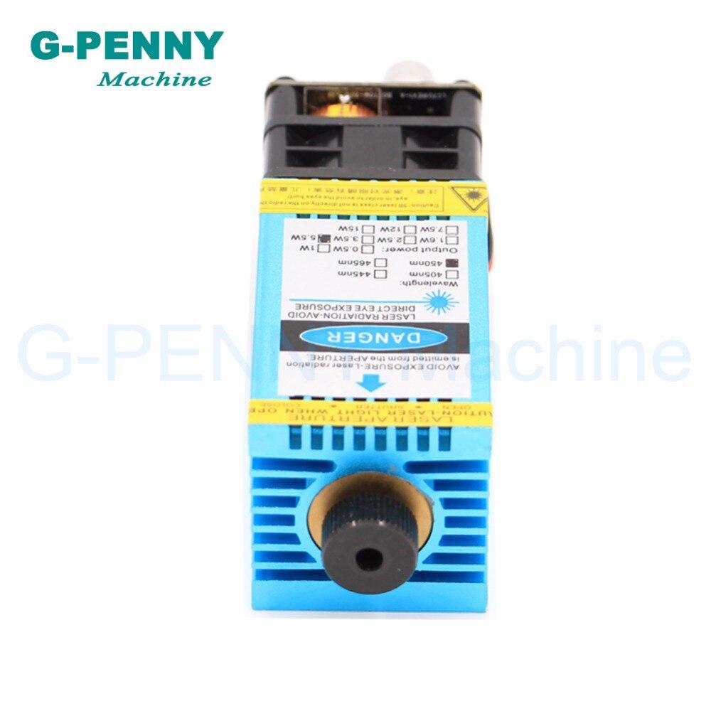 Livraison gratuite! Machine de gravure Laser 5.5N.m modèle 5500 mw 445nm lumière bleue PWM 12 vttl pmw gravure acier découpe bois planche. - 4
