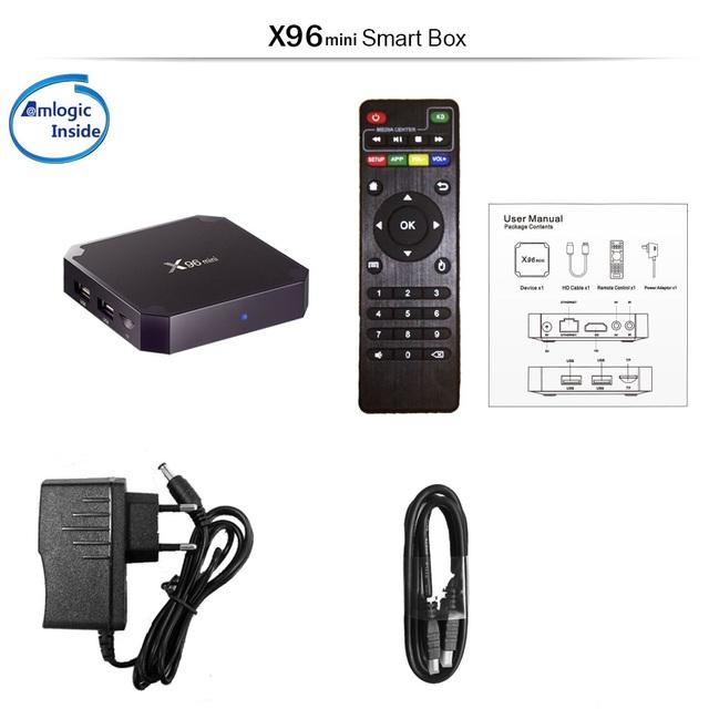 X96 Android TV BOX 4K  H.265/VP9 2GB 16GB  Quad Core 2.4GHz WiFi