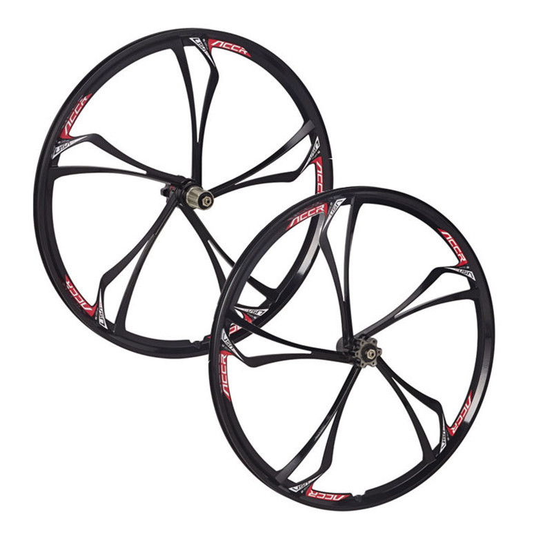MAGNESIUM ALLOY WHEELS FRONT AND REAR MTB MOUNTAIN BIKE WITH CASSETTE NEW 26 INCH 2 PCS magnesium aluminum alloy bicycle fork mountain air bike front shock 26 27 5