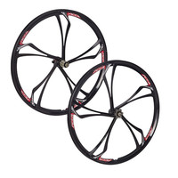 MAGNESIUM ALLOY WHEELS FRONT AND REAR MTB MOUNTAIN BIKE WITH CASSETTE NEW 26 INCH 2 PCS