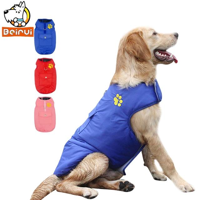 Impermeabile Cane Vest Jacket Due Laterali Vestiti Puppy Pet Abbigliamento Caldo