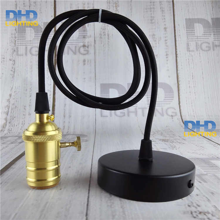 Key brass socket lighting fixture vintage E27 DIY hanging lamp copper material high quality drop light 110V/220V available lamp