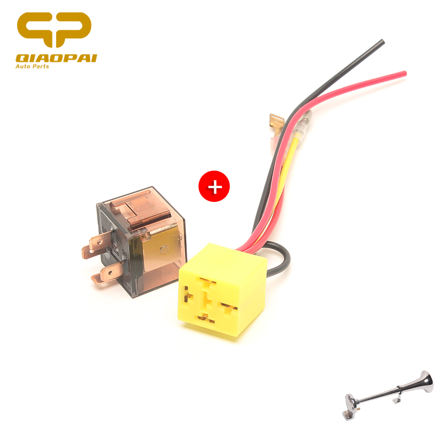 1pc Universal Car Horn Relay 12V/24V 100A Motorcycle Waterproof Relay 4 Pin  Lamp Air Conditioner Socket Double Electric Shock-in Multi-tone & Claxon  Horns ...