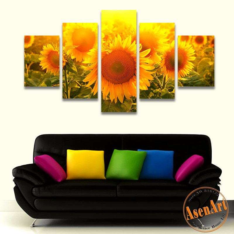 Online get cheap sunflower wall art for Print posters online cheap