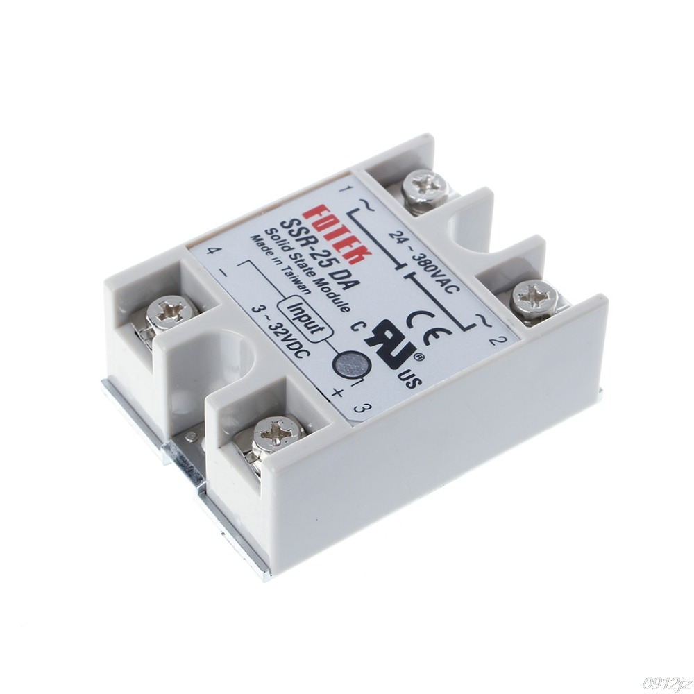 все цены на Solid State Relay Module SSR-25DA 25A 250V 3-32V DC Input 24-380VAC Output Power Supplies New Drop ship онлайн
