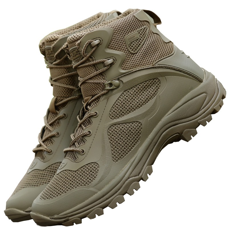 f7b9ceff552 Outdoor Men Hiking Shoes Waterproof Breathable Tactical Combat Army ...