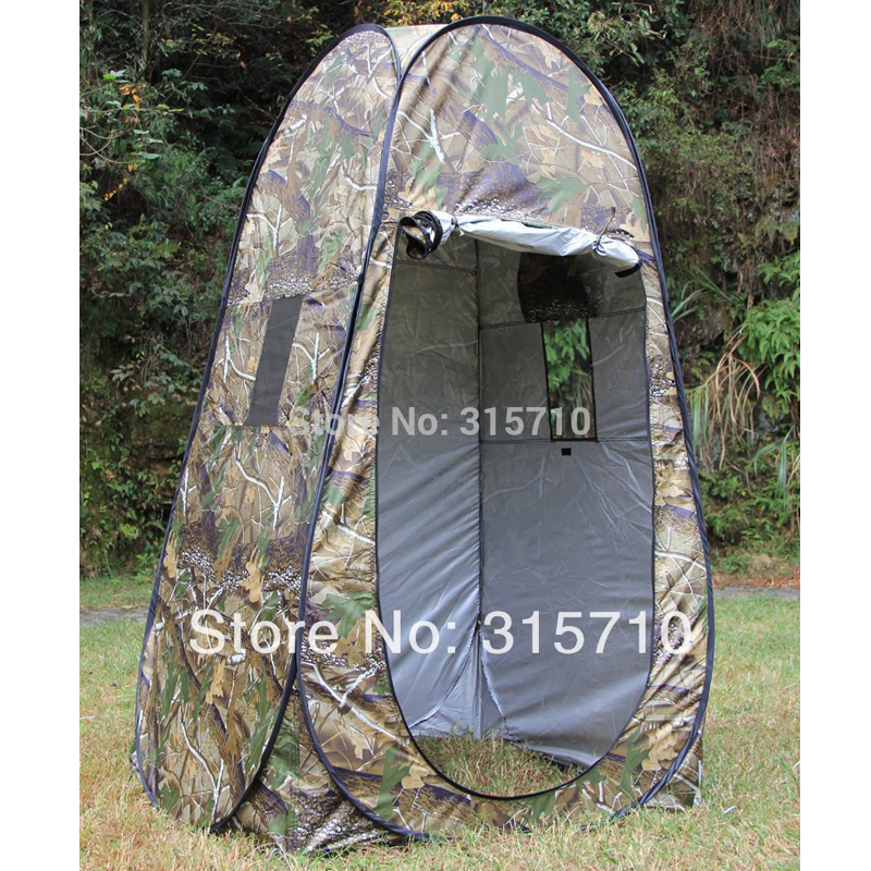 Single hide!Portable Privacy Shower Toilet Camping Pop Up Tent Camouflage/UV function outdoor dressing tent/photography tent image
