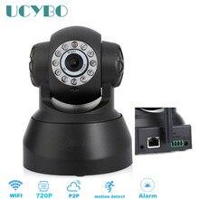 Cámara ip inalámbrica 720 p hd wifi IR de visión nocturna de seguridad cámara de vídeo en red pan tilt sd/tf/Micro tarjeta de alarma IP de audio sistema