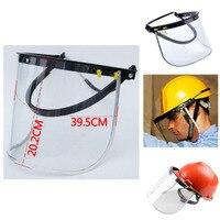Capacete de segurança para viseira  viseira de proteção para rosto  aparador de barreira  acessórios de suporte para capacete de corte de jardim