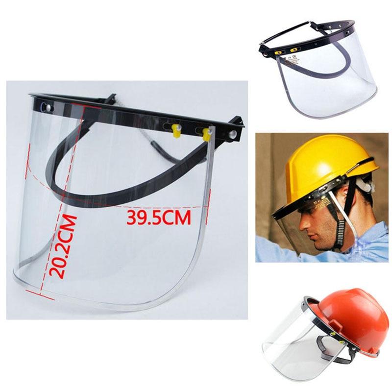 Safety Helmet Face Mask Shield Visor Sparks Grinding Strimmer Garden Cutting Helmet Bracket Accessories