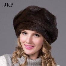 202756f8f9f Real mink fur hats for winter women fur cap with diamond 2016 new fashion octagon  mink
