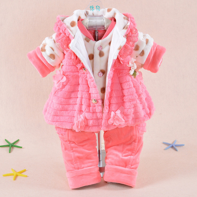 352eeb59af5b 2015 new winter 0 24M girls baby clothing PP cashmere coat warm ...