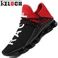 Keloch Man Running Обувь Для Мужчин Хорошие Тенденции Бежать Athletic Тренеры Черный Zapatillas Спортивной Обуви На Открытом Воздухе Прогулки Кроссовки