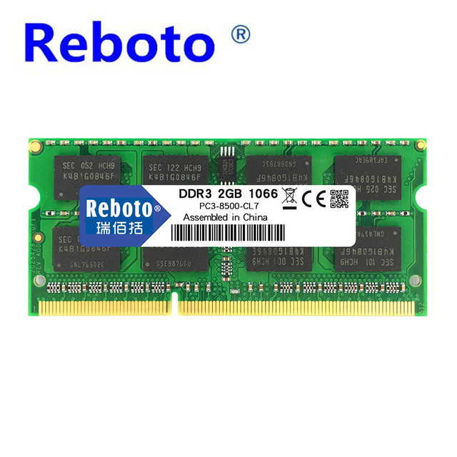 Reboto DDR3 Memory RAM 1GB 2GB 4GB DDR3 8500 Memoria DRAM for Laptop Notebook