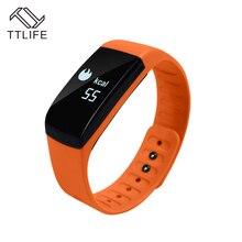 TTLIFE UP08 умный Браслет монитор сердечного ритма Смарт Sleep Monitor Шагомер Bluetooth 4.0 Водонепроницаемый браслет для iPhone 7