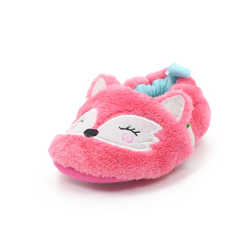 Delebao Prewalkers Cartoon Style Baby Girl Shoes Lovely Fox Patch Soft Sole Baby Shoes For Infant Toddlers