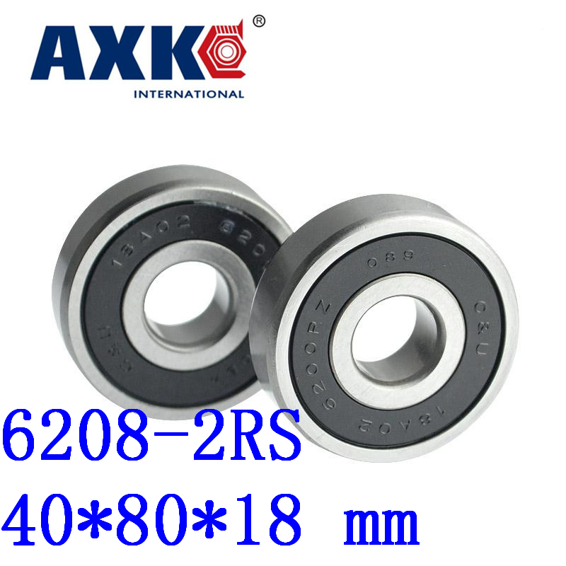 Axk 1pcs Free Shipping Double Rubber Sealing Cover Deep Groove Ball Bearing 6208-2rs 40*80*18 Mm 608 2rs 608rs 608 2rs 8mmx22mmx7mm double purple rubber sealing cover deep groove ball bearing for skate scooter abec 9