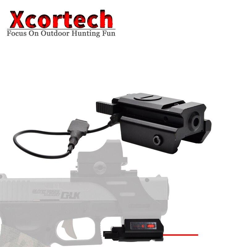 Tactical Hunting Red Laser Sight Scope Glock Laser Pistol Gun Rifle Glock 17 19 20 21 22 23 30 31 32 W/Picatinny Rail 20mm