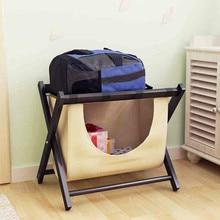 Простая прочная деревянная гостиничная багажная полка для гостиной Простая Современная Складная Прачечная для хранения