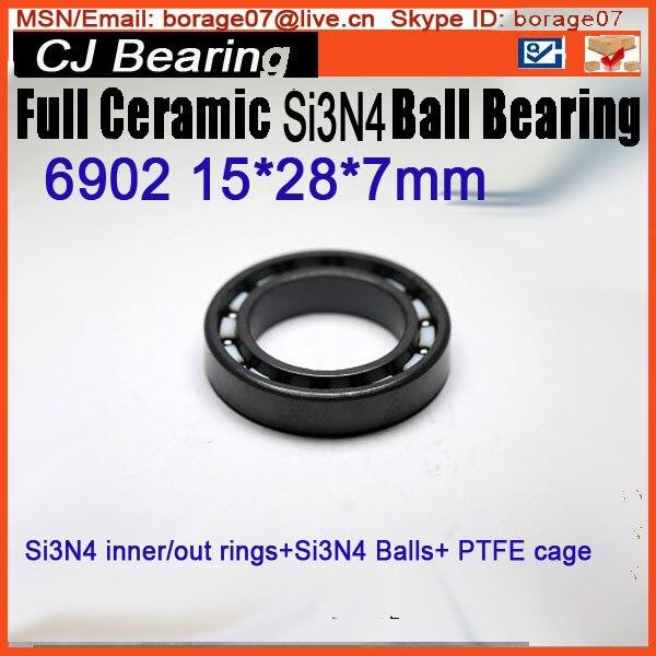 6902 si3n4  Full ceramic bearing 61902 SI3N4 ceramic bearing 15*28*7mm
