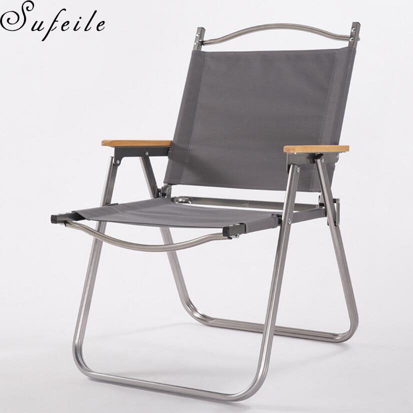 outdoor beach chairs brown for living room sufeile aluminum folding chair fishing portable camping d5