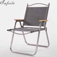 SUFEILE Outdoor Aluminum folding Beach Chair Aluminum Fishing Chair Portable Folding Fishing Chair Outdoor Camping  D5