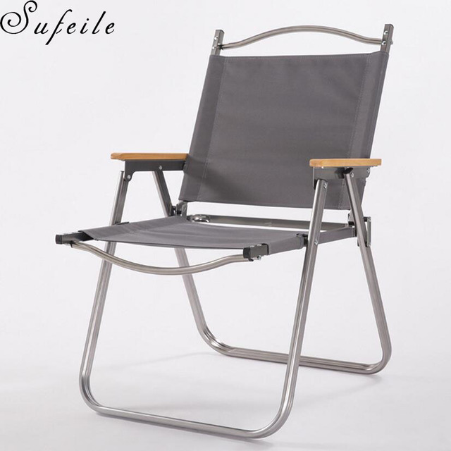 Superbe SUFEILE Outdoor Aluminum Folding Beach Chair Aluminum Fishing Chair  Portable Folding Fishing Chair Outdoor Camping D5