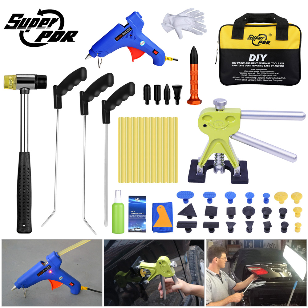 Super PDR Tool Mini Crowbars Pry Bar Dent Pullers Suction Cup Paintless Dent Repair Tools Auto Hot Adhesive Glue Sticks Glue Gun kz hd9 sport headphone copper driver original hifi sport earphones in ear earbuds for running with microphone game headset