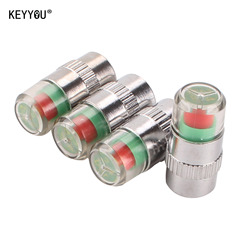 KEYYOU 4 sztuk w 1 zestaw ogólnie samochód Auto 2.4bar monitorowania ciśnienia w oponach zaworu macierzystych czapki czujnik 3 kolory wskaźnik eye Alert
