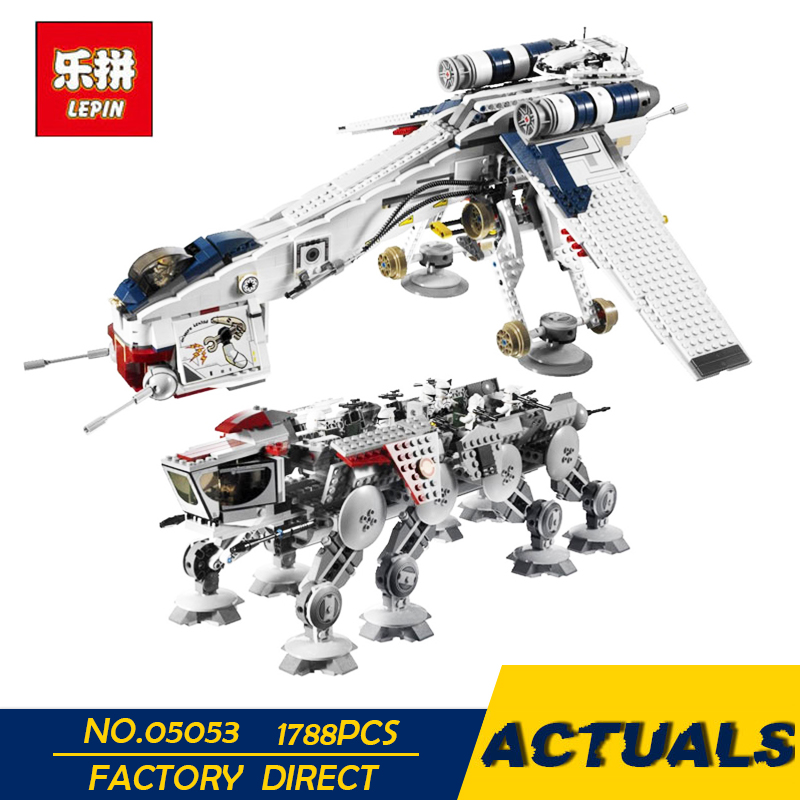 LEPIN 05053 Star Series War New 1788Pcs Genuine The Republic Toys Dropship Set Building Blocks Bricks Children Toys 10195