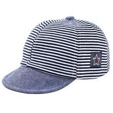 49c4b6bfce6d5 夏コットンベビー帽子かわいいカジュアルストライプソフトひさし野球キャップ男の子ベレー赤ちゃん女の子太陽