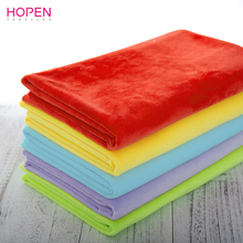 100% eco-friendly EN71 & REACH Test passed fabric Super soft rainbow Series Short Pile Plush Fabric Toy's/ sofa/table/fabric