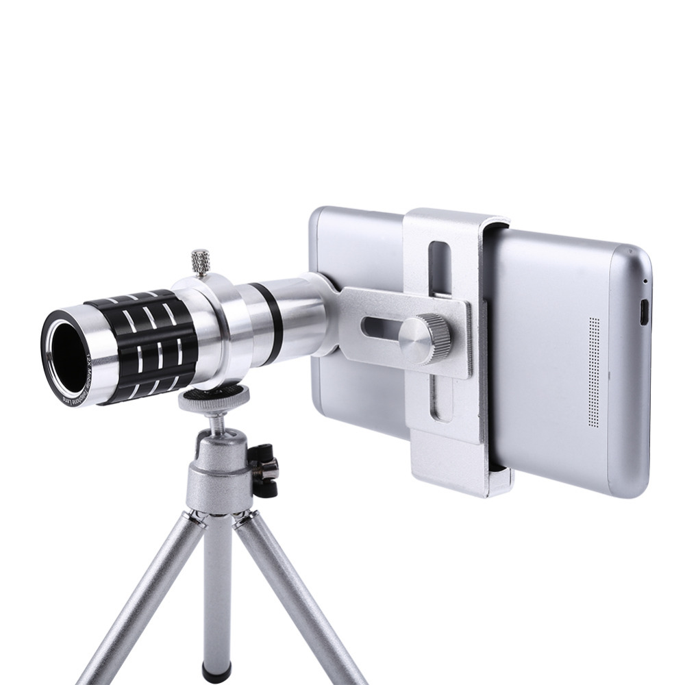 UVR Mobile Phone Telephoto Lens 12X Zoom Optical Telescope Camera with Clips For iphone 4S 5S 6S 7 All No Dark Corner